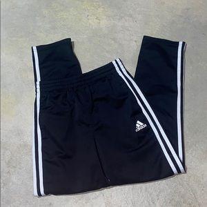EUC Black Adidas White Stripe Drawstring Sweatpant
